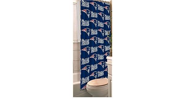 Amazon New England Patriots Fabric Shower Curtain 72x72 Sports Outdoors
