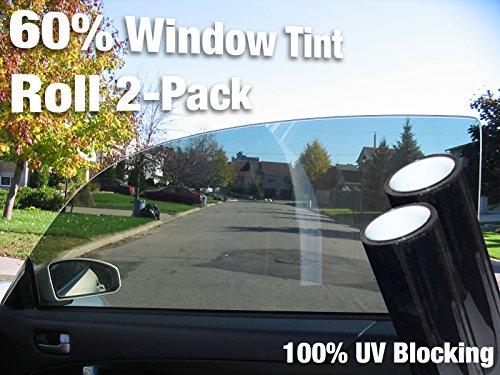 Complete Car Window Wrap 60% Smoke Tint Glass Vinyl Film 30