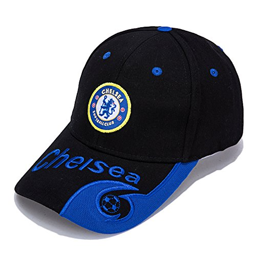 TUERTY F.c Classic Embroidered HAT Adjustable Men's Baseball Cap, Chelsea Black, One Size (Chelsea Cotton Cap)