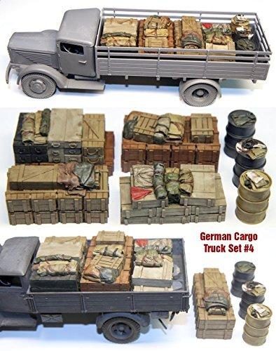 1/35 Busching NAG4500 / Opel Blitz cargo set 4 German [GOB04] Opel Blitz German Cargo Truck Load # (Opel Blitz Cargo Truck)