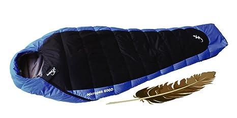 Freetime Micropak 600 D - Saco de dormir de plumas tipo sarcófago
