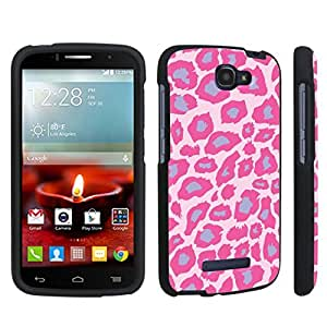 DuroCase ? Alcatel OneTouch Fierce 2 7040T (2014 Released) Hard Case Black - (Pink Purple Leopard)