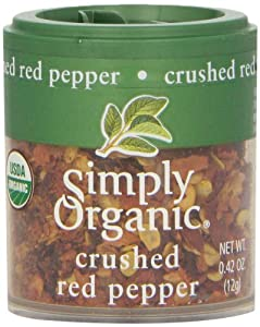 Simply Organic Red Pepper Crushed Certified Organic, 0.42-Ounce (Pack of 6) from Simply Organic