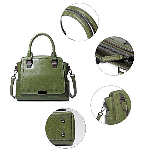 Crossbody Cowhide Handbags black Backpack Fashion 2 Bag HopeEye Fashion Cowhide Brown Trends Womens tqxwFHSY