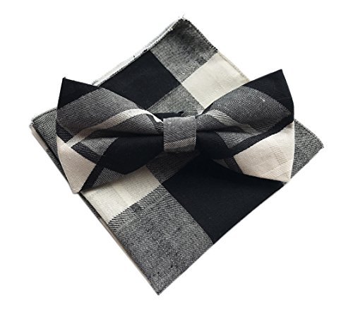 Suit Brioni Cotton - Elfeves Men Beige Black Bow Ties Accessory Set Wool Blend Great Fashion Neckties