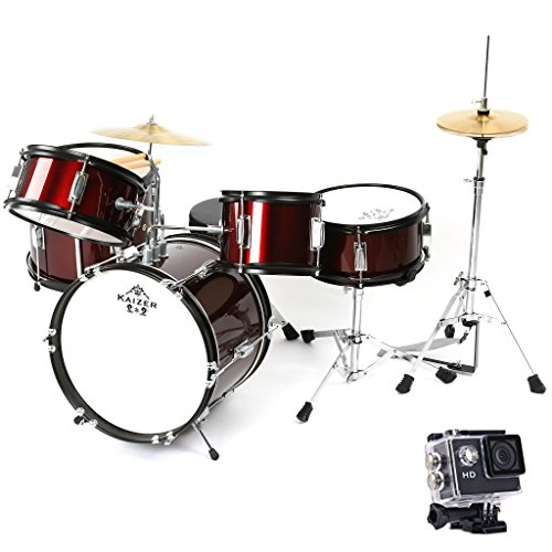 kaizer-reliable-junior-drum-set-1000-series-standard-5-pc-kids-set-with-included-action-camera-acces