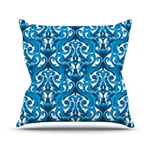 """Kess InHouse Aimee St. Hill """"Intertwined Blue"""" Outdoor Throw Pillow, 26 by 26-Inch"""