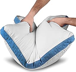 Gusseted Quilted Pillow (Queen, 2 Pack) - Hypo Allergenic and Easy Care - Premium Quality Pillows by Utopia Bedding