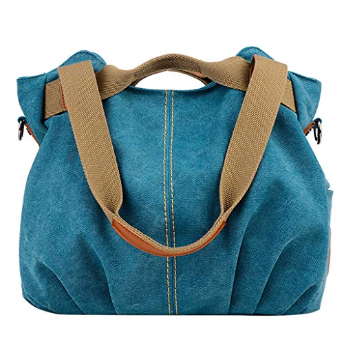 Women's Ladies Casual Vintage Top-Handle Handbag Canvas Daily Purse Shoulder Bags Tote Bag Shopper Handbag Satchel SIN+MON
