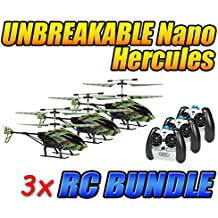 Camo Nano Hercules Unbreakable 3.5CH IR RC Helicopter 3-Pack Bundle