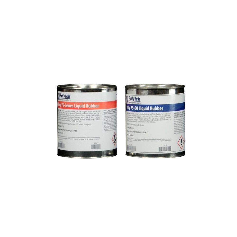 Polytek 75-60 Liquid Polyurethane Rubber (4lb Kit)