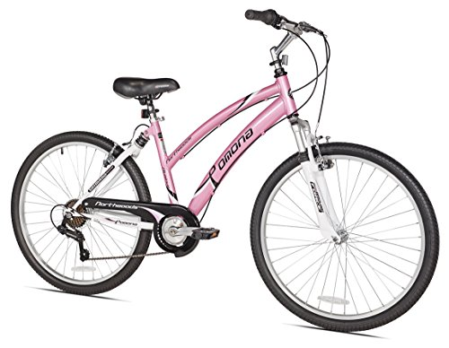 Northwoods Pomona Women's Dual Suspension Comfort Bike, 26-Inch, Pink