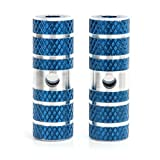 BMX Mountain Bike Bicycle Axle Pedal Alloy Foot Stunt Pegs Cylinder Blue