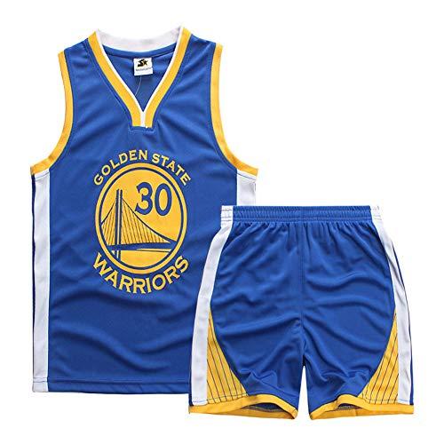 Teach Leanbh Boys #23#24#30 Basketball Jersey 2-Piece Performance Tank Top and Shorts Set (XL, 30 Blue)