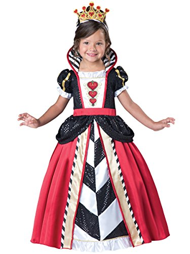 Fun World InCharacter Costumes Toddler Queen of Hearts Costume, Black/Red, Medium