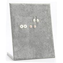 New Wayzon 30-Pair L-Shape Earrings Display Rack Organizer Jewelry Stand Holder Tray(Gray)