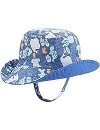 66e416d8658 Baby Sun Hat Double Sides - Toddler Sun Hat UPF 50+ Kids Summer Play Bucket