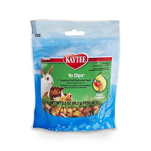 Kaytee Fiesta Yogurt Dipped Treats Tropical Fruit And Yogurt Mix For Small Animals, 3.5-Oz Bag (Dips Yogurt Treats)
