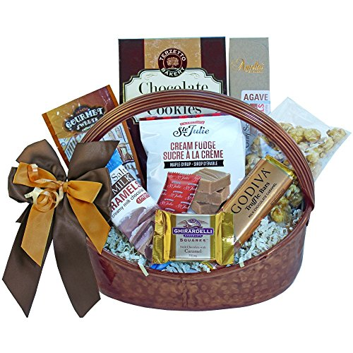 Caramel Cravings Chocolate and Gourmet Salted Caramels Gift Basket (Ice Packaging)