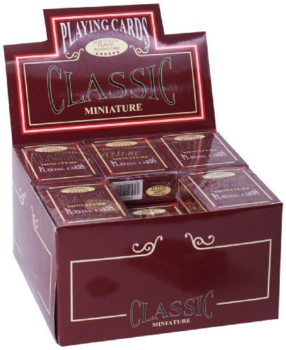 Miniature Playing Cards, Set of 24 Decks by Classic Game Collection