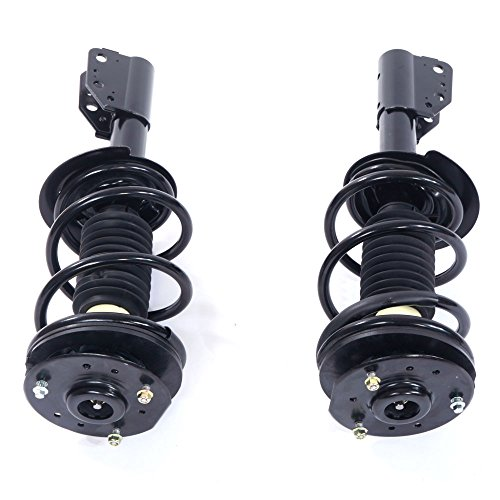 Pair Set Front Complete Strut & Spring Assembly Driver and Passenger Side for 1999 2000 01 02 03 04 2005 Pontiac Grand Am | Chevy 04-05 Classic & 98-03 Malibu - Spring Plate Driver Side