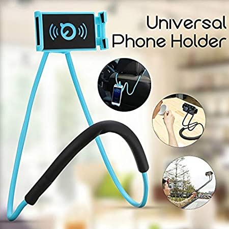 YYJHT Flexible Lazy Neck Stand Phone Holder with Pendant Neck and Halter with Mobile Phone Holder and Necklace Color : Yellow