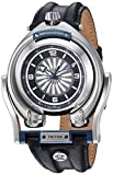 GV2 by Gevril Triton Mens Swiss Automatic Black Leather Strap Watch, (Model: 3400)