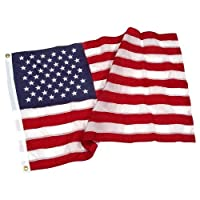 SuperStream Embroidered Nylon 4ft x 6ft American Flag