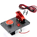 Carbon Fiber Racing Car Ignition Switch Panel Engine Start Push Button Red LED Toggle Button Panel