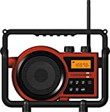 Sangean LB-100SE (LUNCHBOX) Compact AM/FM Rugged Digital PLL Tuning Radio (RED) Special Edition