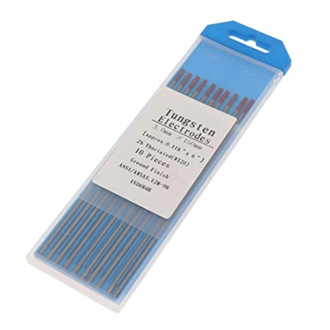 Homyl 10 Pcs Barre Tiroide Electrodo de Soldadura Parte de Industrias Universal - Gris 3.00mm