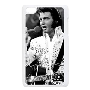T-TGL(RQ) Ipod Touch 4 Hard Back Cover Case Elvis Presley with Hard Shell Protection