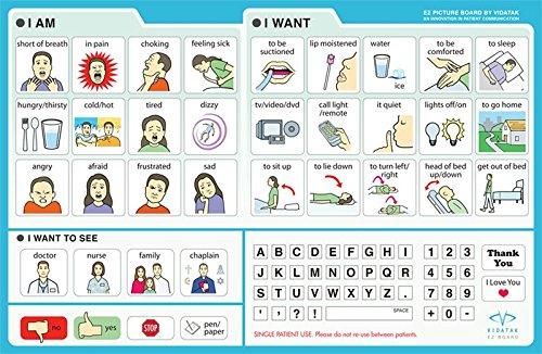 EZ Board Vidatak Patient Communication Board, Picture Board