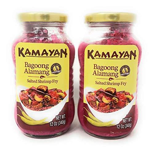 (Kamayan Bagoong Alamang Salted Shrimp Fry, Net Wt 12oz (340g) per Jar, 2 Pack)
