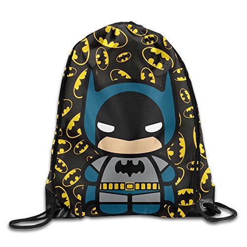 FOODE A Cute Batman Drawstring Backpack Sack - Bat Oakley