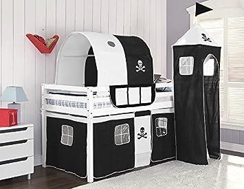 Etagenbett Mit Matratze : Kinder hochbett mit play zelt leiter holz etagenbett und matratze
