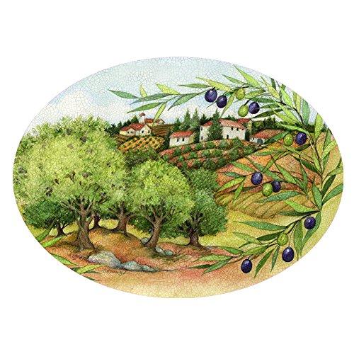 Olive Grove Oval Melamine Platter