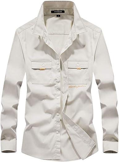 Luckycat Camisas Hombre, Camisa de Hombre de Negocios Camisa de Manga Larga Casual para Hombre Camisa de Vestir Slim fit Camisa de Vaquero Blusa Tops Outwear: Amazon.es: Ropa y accesorios