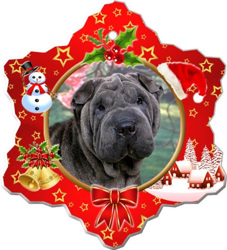 Shar-pei Holiday Porcelain Christmas Tree Ornament