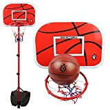 Lldaily Adjustable Portable Basketball System,Basketball Hoop Set for Kids Youth Indoor/Outdoor Basketball200cm/79inches