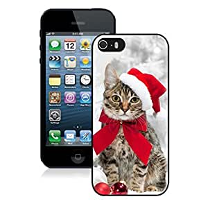 Customized Design Christmas Hat Bowknot Cat Black Phone Case For Iphone 5s,Iphone 5 TPU Case,Apple Iphone 5s