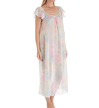 68157a3ea9fb Miss Elaine Tricot Floral Long Gown (502308) at Amazon Women s ...