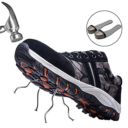 W Mens Lightweight Hiker Protection Steel Trainers Toe Midsole Womens Work Gray Cap Safety Shoes rwU86qrW7z