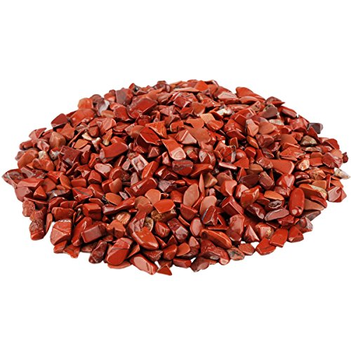 rockcloud 1 lb Red Jasper Small Tumbled Chips Crushed Stone Healing Reiki Crystal Jewelry Making Home Decoration