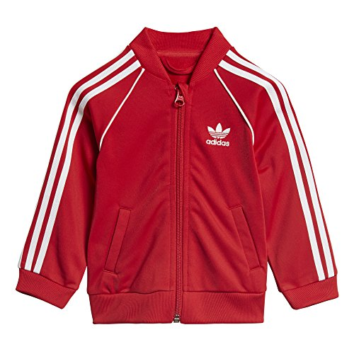 adidas Originals Baby Boys Originals Superstar Tracksuit, Scarlet, 3M
