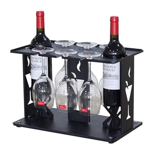 Botelleros Decoración de Racks de vinos Soporte para Copa de Vino ...