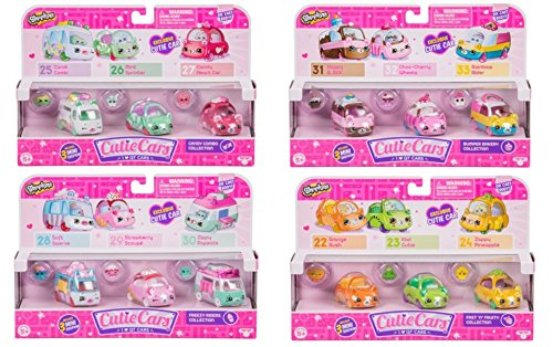 Cutie Car Complete Set of Theme Packs (Fast N'Fruity, Freezy Riders, Bumper Bakery, Candy Combo)