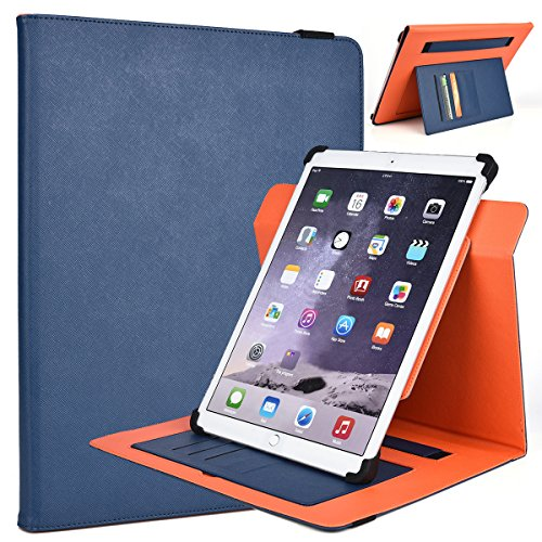 12-inch Tablet Stand Cover Universal Fit for Samsung Galaxy Note Pro 12.2, Galaxy Tab Pro 12.2, (Ink Blue/Orange)