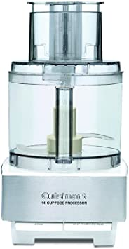 Food Processor Extra Large Feed Tube Detachable Disc Stem Mixing Blades 14 Cup