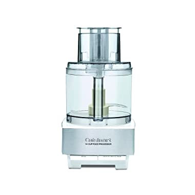 Cuisinart DFP-14BCWNY 14-Cup Food Processor, Brushed Stainless Steel, White